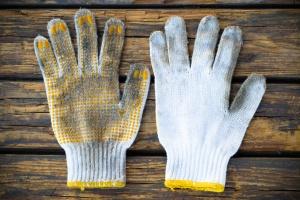 Old cotton work glove
