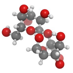 Sugar (sucrose, saccharose) molecule, chemical structure
